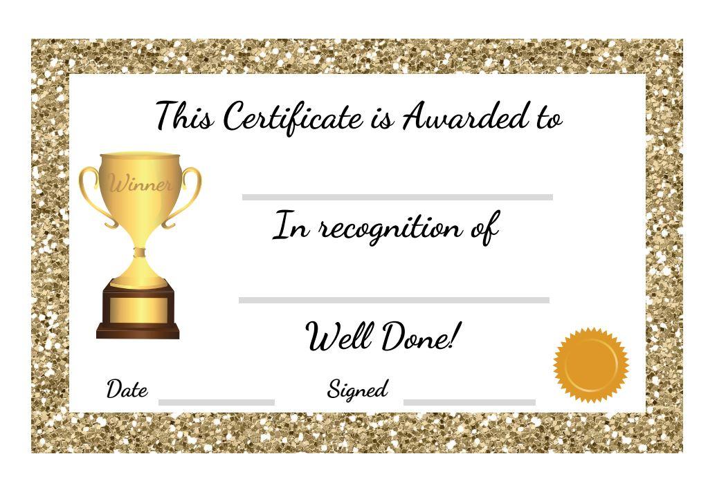 Printable Student Award