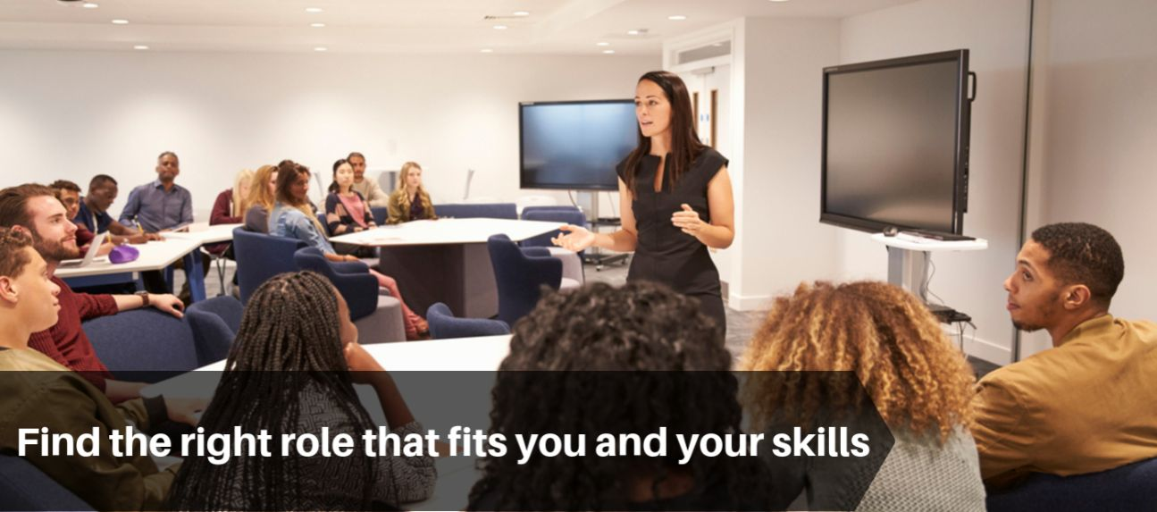 Find the Right Role that Fits You & Your Skills